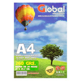 Papel Fotografico A4 Global Glossy Brillante 260gr