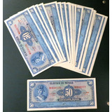 Billete Antiguo Banco De Mexico De 50 Pesos Nuevo C/u