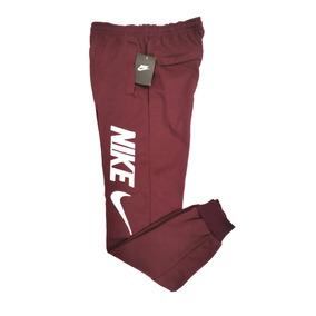 Pants Nike Algodon Vino Letras Bordadas Jogger Entubado