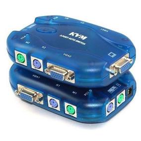 Kvm Switch 2puerto Ps2 Teclado Mouse Monitor 2pc A 1 Monitor