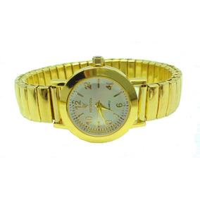 27d3fa09b79 Relógio Feminino Pequeno Dourado Pulseira Elástica Barato