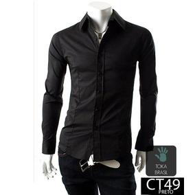 Camisa Social Slim Fit Algodão 100% Algodão Mod Ct49p. 6 cores. R  69 90 feaa8235c2e