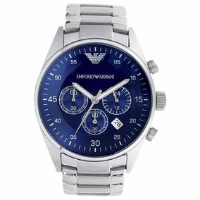 Relógio Emporio Armani Ar5860 Azul 100% Original 12x S/juros