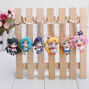 Sailor Moon Chaveiros 6 Peças Pronta Entrega - Novo!