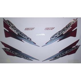 Kit Adesivos Honda Cbx 200 Strada 2002 Vermelho