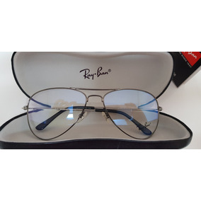 Armação Óculos Ray-ban Grau Aviator Rb6049 Grafite- Pequena 52a5d851be