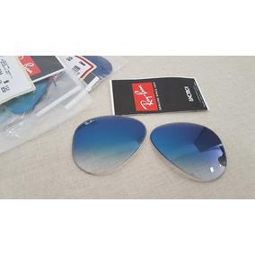 Ray Ban Aviador Azul Degrade Tamanho P - Óculos no Mercado Livre Brasil 982f281507