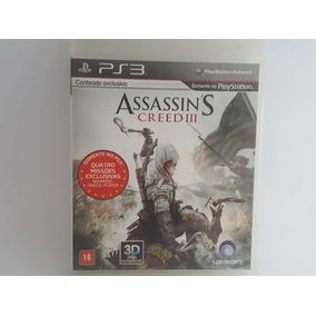Jogo Ps3 Assassins Creed 3 Mídia Física