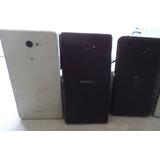 Lote -3 Celulares Sony - Dois 16g Um 8 Gb ( Display Queb.)