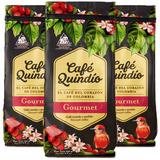 Café Molido Café Grano Quindío Gourmet Café Arábigo 3x 500g