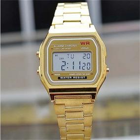 8b4f3a2ed59 Relogio Wr Dourado - Relógios De Pulso no Mercado Livre Brasil