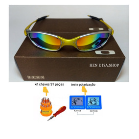 Oculos Oakley Juliet 24k Arco-iris +teste+chave+frete Gratis 4c087db50c