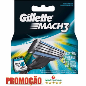 Carga Gillette Mach 3 C - Beleza e Cuidado Pessoal no Mercado Livre ... 42f38cbb339cf