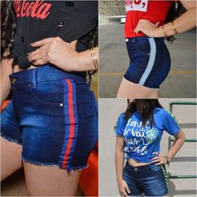 02 Short Jeans Feminino Roupas Femininas Atacado