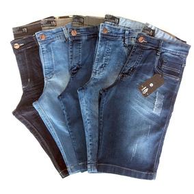 Kit /5 Bermuda Jeans Masculino Atacado Big Grande 36 Ao 56