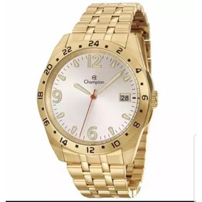 Relógio Masculino Dourado Banhado A Ouro 18k Ca31211h