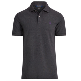 Playera Polo Golf Gris Oscuro Ralph Lauren