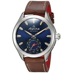 6cd6c81f4845 Reloj Inteligente Acero Y Cuero Cuarzo Para Hombres Alpina