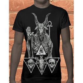 Camiseta Camisa Devil Pentagrama Bode 969 . c9723ce7f3fda