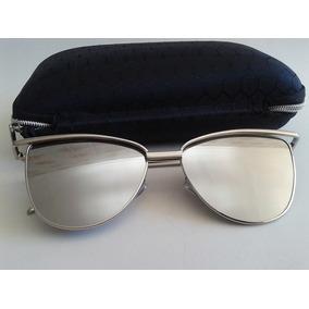 Óculos Espelhado Feminino Olho De Gato Gatinho Metal Redondo ... 0963f893d3