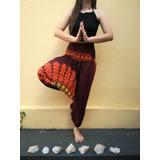 Calça Indiana Feminina Saruel Yoga Hippie Hipister Marrom