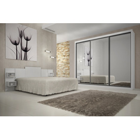 Guarda-roupa Rufato Ravena Top C/ 03 Portas Espelho-branco
