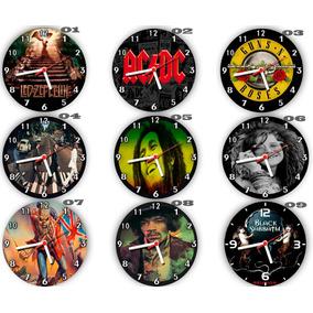 Kit C/ 6 Relógios Parede Atacado Rock Clássico Heavy Metal