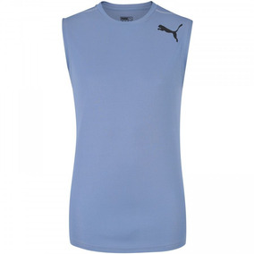 Camiseta Regata Puma Essential Sleeveless - Masculina - Azul 045516df3f7