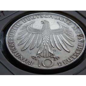 Moeda De Prata 10 Mark Alemanha. Olimpíada 1972 - Munich
