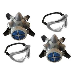 8668a598bd027 Máscara Filtro Pó Poeira Mastt + Óculos Segurança (2 Unid.)