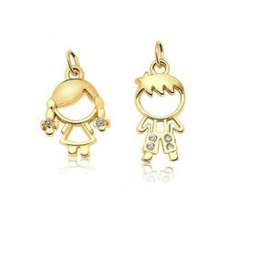92b118395016c Pingente Casal De Menino E Menina Pingentes Ouro Diamantes - Joias e ...