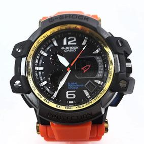 Relógio Masculino G Shok Laranja Com Preto Barato