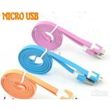 Cables Usb Planos V9 Multicolor.