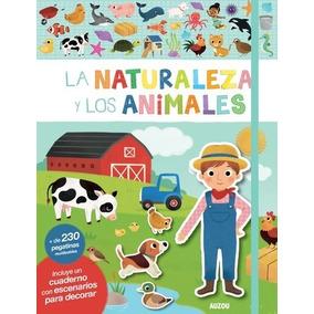 La Naturaleza Y Animales Libro Con Escenarios 230 Stickers