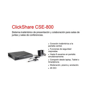 Clickshare Cse-800 Sistema Inalámbrico De Presentación