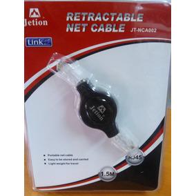 Cable De Red Pascor Rj45 De 1.5mts Retractil Mod: Jt-nca002