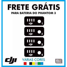 4 Adesivos Bateria Numerados Drone Phantom 3