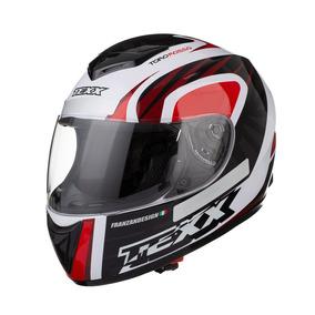 Capacete Moto Fechado Texx Toro Rosso Branco Vermelho
