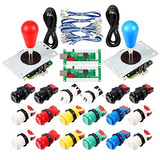 Avisiri 2 Player Arcade Joystick Diy Parts 2x Usb Encoder +