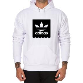 5ec807468cd Moletom Com Bolso Adidas - Moletom Masculinas Branco no Mercado ...