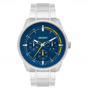 90d88bfa0ae Relogio Prata Fundo Azul - Relógio Orient Masculino no Mercado Livre ...