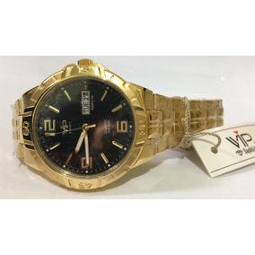5f2733cdd10 Relogio Vip Dourado Feminino - Relógios De Pulso no Mercado Livre Brasil