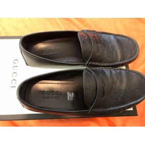 Mocasines Gucci Estampado Gg Color Negro Originales