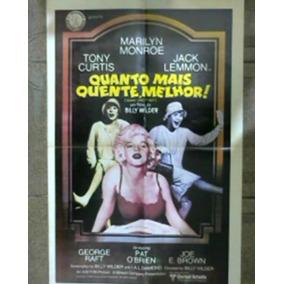 *sll* Poster Original Filme Cinema Quanto Mais Quente Melhor