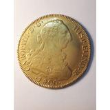 Moneda Colonial 8 Escudos Acuñada En Sant. De Chile 1800 Aj