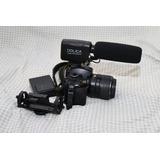 Cámara Nikon D3200 Y Micrófono Dolica !oportunidad¡