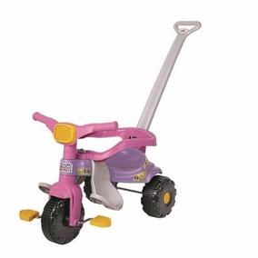 Triciclo Infantil C/ Empurrador E Protetor Motoca Carrinho R