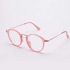 b51821d57c9bd Oculos De Descanso Para Rosto Redondo - Óculos Rosa no Mercado Livre ...