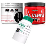 Kit Creatina Max + Glutamina Integralmedica + Dilatex