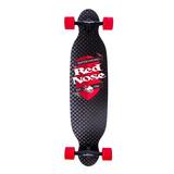 Skate Longboard Mess Abec-7 Preto E Vermelho Red Nose